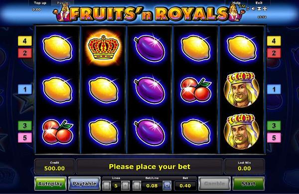 Игровой автомат Fruits and Royals - непередаваемые ощущения